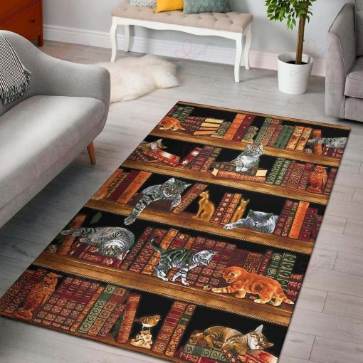 Cat In Library Rug