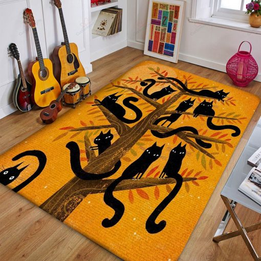 Cat On Tree Rug