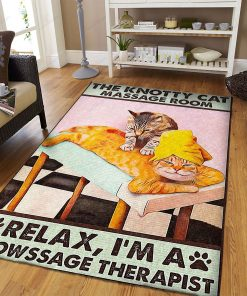 I'm A Meowssage Therapist Rug