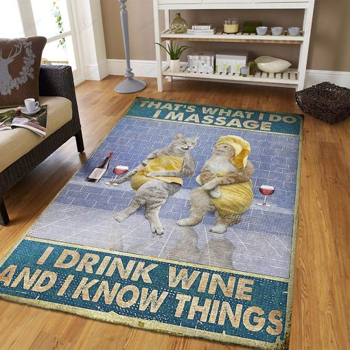 Massage Therapist I Massage And I Drink Wine Rug