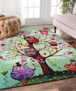Owl In The Spring Rug