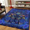 Strong Blue Butterfly Rug