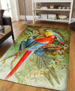 Three Parrots Bird Wild Animals Rug