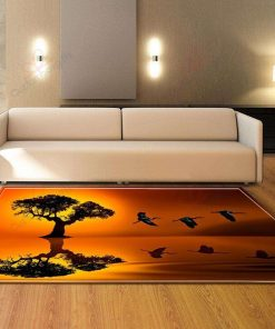 Tree In The Sunset Rug
