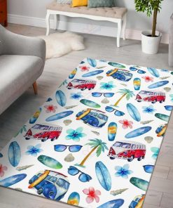 Watercolor Surfing Rug