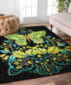 Yellow Butterfly Rug
