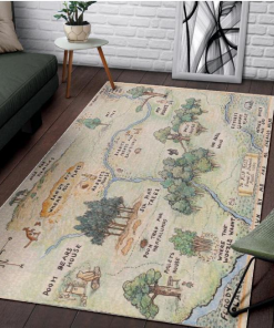 100 Acre Wood Map Winnie The Pooh Jungle Limited Edition Rug Carpet