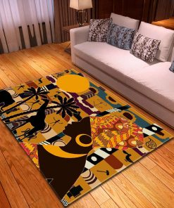 3D African Woman Beauty Rug Carpet