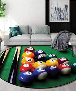 8 Balls Pool Billiards Home Decor Round Carpet