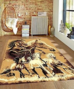 Abstract Horses Beauty Rug Carpet