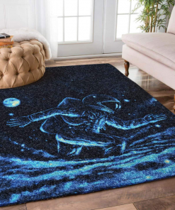 Astronaut Weird Run Rug Carpet