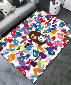 Bape Fashion Brand Combination Of Colors Area Limited Edition Rug Carpets