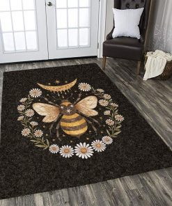 Bee Honey flower Rug Carpet