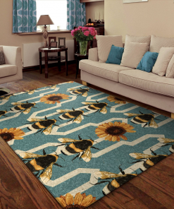 Bees and Sunflowers Lover Rug Carrpet