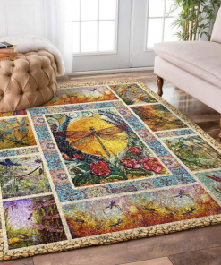 Dragonfly And Flower Limited Edition Rug Carpet