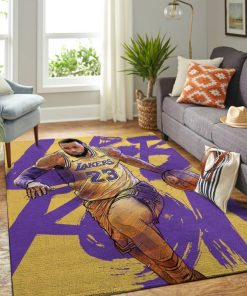 Lebron James 23 Los Angeles Lakers Rug Carpet