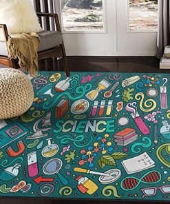 Science Chemistry Area Rug Carpet