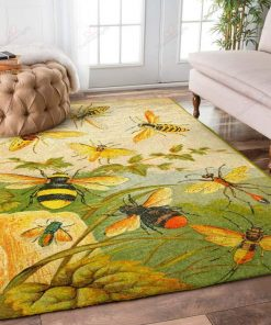 Yellow Bees In Hive Rug
