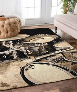 Abstract Drum Set Limited Edition Rug Carpet
