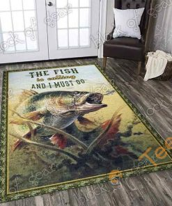 Bass Fishing Rectangle Limited Edition Rug Carpet