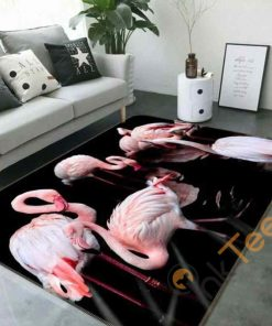 Beautiful 3D Flamingo Rectangle Limited Edition Rug Carpet