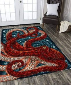 Beautiful Octopus Rectangle Limited Edition Rug Carpet