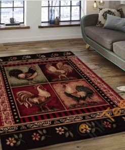 Beautiful Rooster Chicken Rectangle Limited Edition Rug Carpet