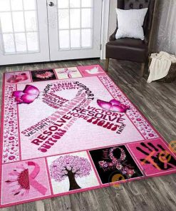 Breast Cancer Awareness Rectangle Limited Edition Rug Carpet