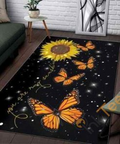 Butterfly Sunflower Limited Edition Rug Carpet