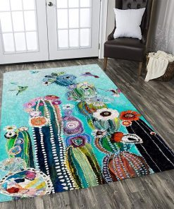 Cactus And Hummingbird Limited Edition Rug Carpet