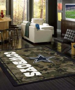 Camo Camouflage Dallas Cowboys NFL Limited Edition Rug Carpet