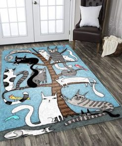 Cat Tree Area Limited Edition Rug Carpet