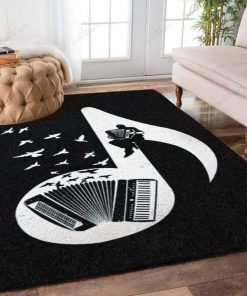 Accordions And Birds Rug