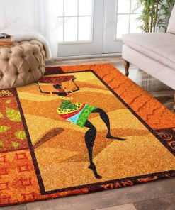 African Girl Yellow Rug
