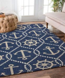 Anchors Blue Rug
