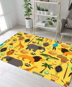 Ancient Egypt Animals Rug