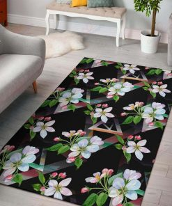 Apple Blossom Black Rug