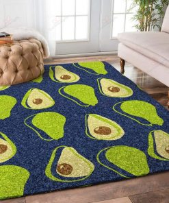 Avocadoes Blue Rug