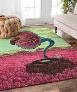 Bees With Flowers Rug
