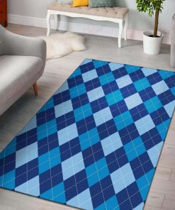 Big Argyle Blue Rug
