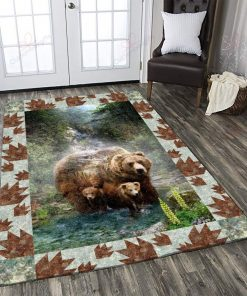 Black Bears In The Forest Rug