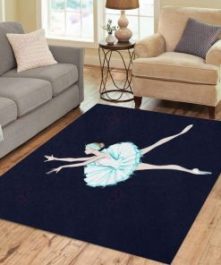 Blue Ballet Dancer Rug
