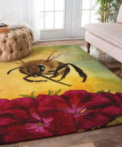 Cute Bees And Flowers Rug