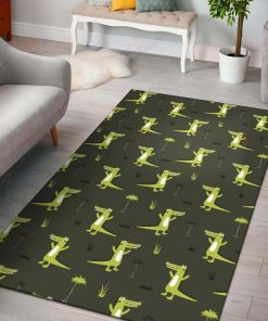 Green Alligators Rug