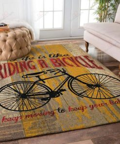 Life Is Like Riding A Bicycle Rug