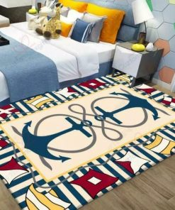 Two Blue Anchors Rug